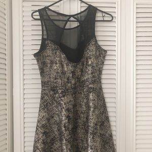 Nordstrom Dresses - BRAND NEW WITH TAGS!!! GOLD AND BLACK SKATER DRESS